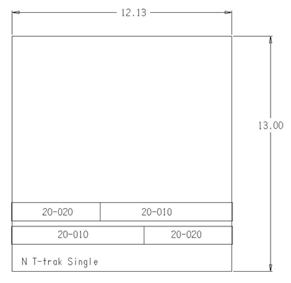 Single Wide N Scale T-trak dimensions